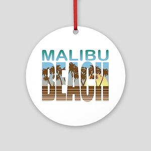 Malibu Beach Ornament (Round)