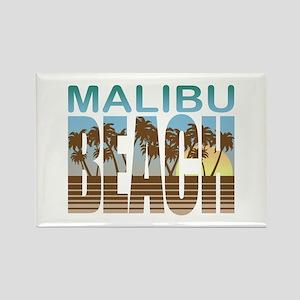 Malibu Beach Rectangle Magnet