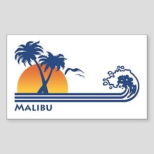 Malibu Rectangle Sticker