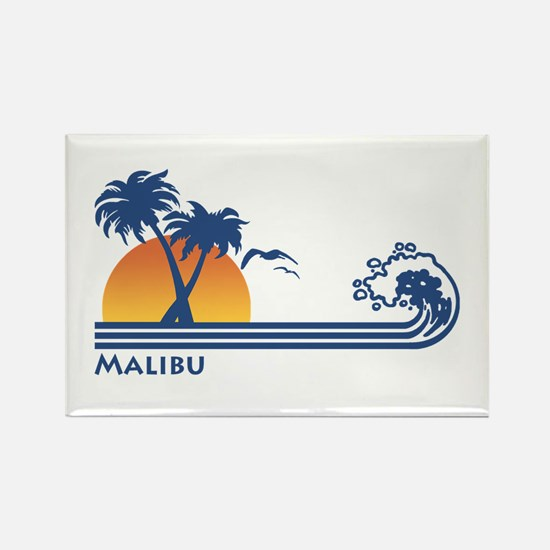 Malibu Rectangle Magnet