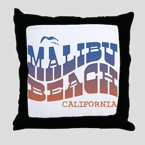 Malibu Beach California Throw Pillow