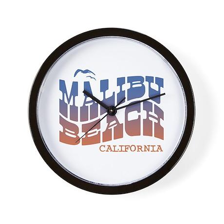 Malibu Beach California Wall Clock