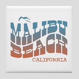Malibu Beach California Tile Coaster