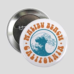 "Malibu Beach California 2.25"" Button"