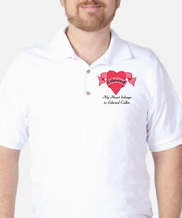My Heart belongs to Edward Golf Shirt