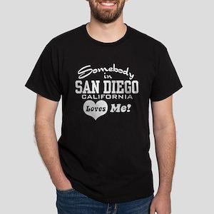 Somebody In San Diego Loves Me Dark T-Shirt