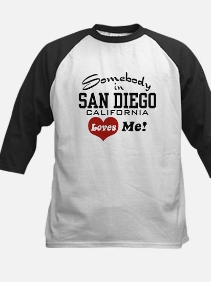 Somebody In San Diego Loves Me Kids Baseball Jerse