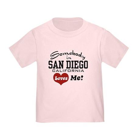 Somebody In San Diego Loves Me Toddler T-Sh