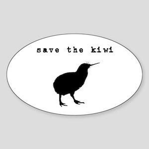 Save the Kiwi Oval Sticker