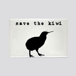 Save the Kiwi Rectangle Magnet