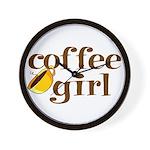 Coffee Girl Wall Clock