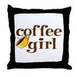Coffee Girl Throw Pillow