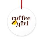 Coffee Girl Ornament (Round)