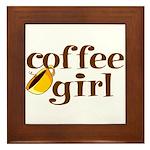 Coffee Girl Framed Tile