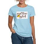 Coffee Girl Women's Pink T-Shirt