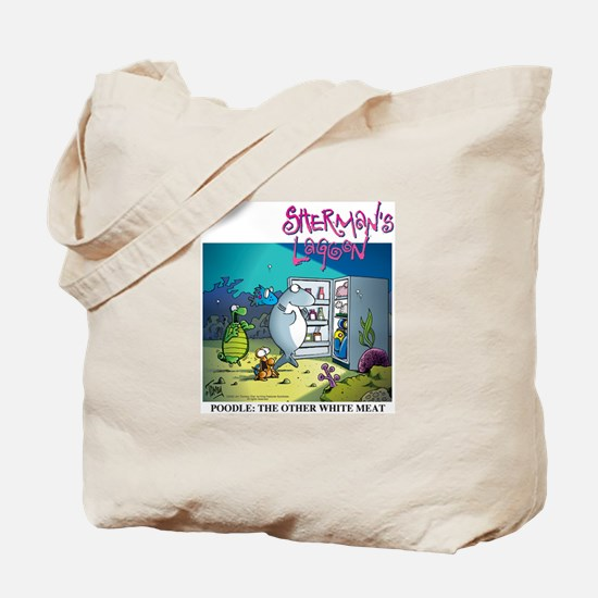 Poodle: The Other White Meat Tote Bag