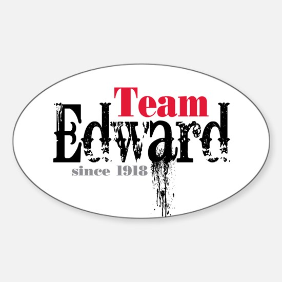 Team Edward Since 1918 Oval Decal
