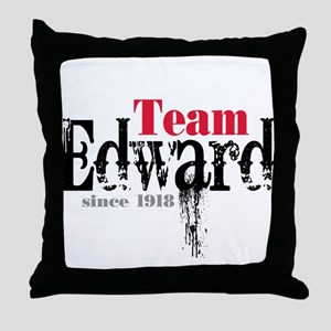 Team Edward Since 1918 Throw Pillow