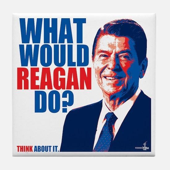 What Would Reagan Do? Design Tile Coaster