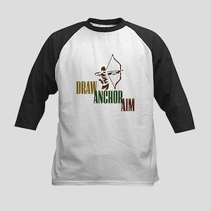 Draw. Anchor. Aim. Kids Baseball Jersey