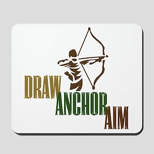 Draw. Anchor. Aim. Mousepad