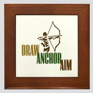 Draw. Anchor. Aim. Framed Tile