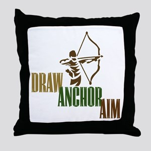Draw. Anchor. Aim. Throw Pillow