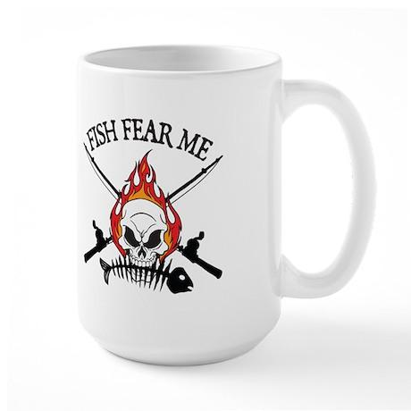 Fish Fear Me Large Mug