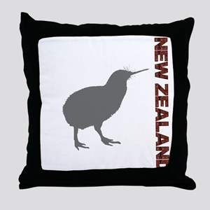 New Zealand Red Throw Pillow