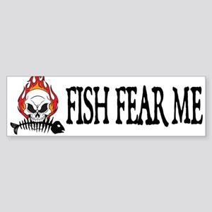 Fish Fear Me Bumper Sticker