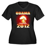 Obama 2012 - End of the World Women's Plus Size V-
