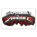 Disposable Heroes Skulls Rectangle Sticker 10 pk)