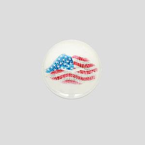 Patriotic Smooch Mini Button