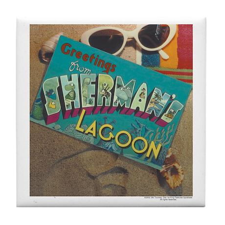 Postcard Greetings Tile Coaster