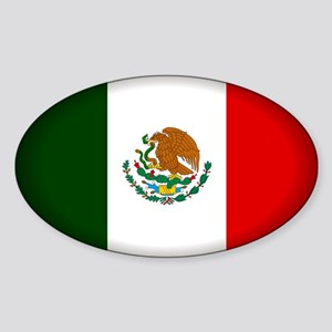Mexico Oval Sticker