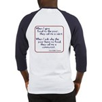 (Back) Dom Helder Camara quote Baseball Jersey