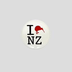 I Love New Zealand Mini Button