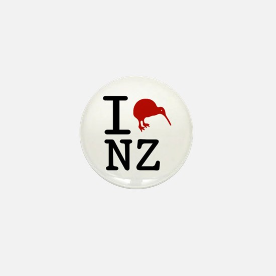 I Love New Zealand Mini Button