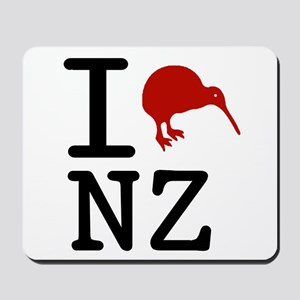 I Love New Zealand Mousepad