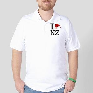 I Love New Zealand Golf Shirt