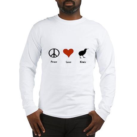 Peace Love Kiwis Long Sleeve T-Shirt