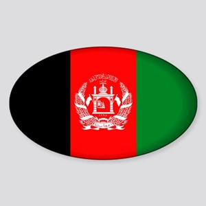 Afghanistan Oval Sticker
