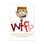 Obama WTF!? Design 1 Mini Poster Print