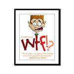 Obama WTF!? Design 1 Framed Panel Print