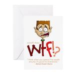 Obama WTF!? Design 1 Greeting Cards (Pk of 10)