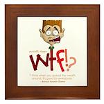 Obama WTF!? Design 1 Framed Tile