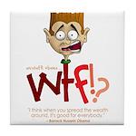 Obama WTF!? Design 1 Tile Coaster