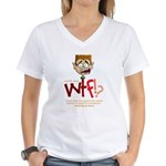 Obama WTF!? Design 1 Women's V-Neck T-Shirt