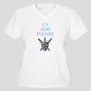 CA Add Please Women's Plus Size V-Neck T-Shirt