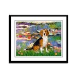 Lilies (#2) - Beagle #7 Framed Panel Print